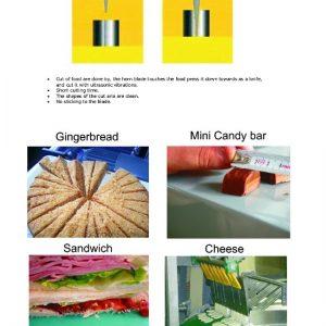 Ultrasonic food cutting