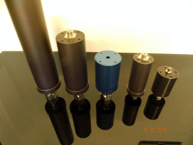 Titanium solid Mount High power Ultrasonic transducers – converters from 15 kHz up to 80 kHz with HEX nut front